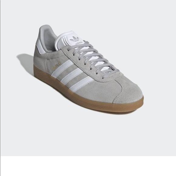 Nwt Adidas Shoes Suede Light Grey